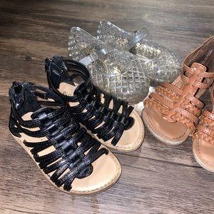 Old Navy Toddler Girl Shoes Sandals 6 & 7